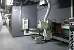 Cinema projector room with equipment Stock Image