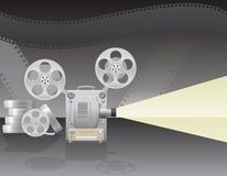 Cinema projector vector illustration Royalty Free Stock Images