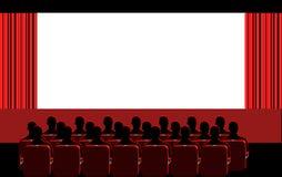 Cinema - quarto vermelho ilustração do vetor
