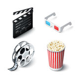 Cinema Realistic Set Royalty Free Stock Photography