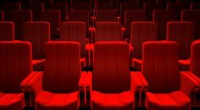 cinema red seats Στοκ φωτογραφία με δικαίωμα ελεύθερης χρήσης