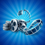 Cinema reel Royalty Free Stock Photography