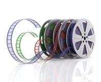 Cinema reels. Cinema film reels on white (3d render Royalty Free Stock Photos