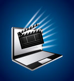 Cinema related icons Royalty Free Stock Photography