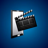 Cinema related icons Stock Photography