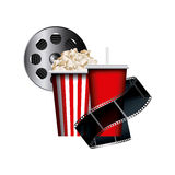 Cinema related icons. Over white background. colorful design. vector illustration Stock Photos