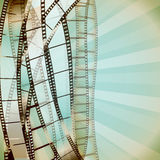 Cinema retro background. With film strips. vector Royalty Free Stock Photos