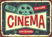 Cinema retro decorative sign layout Stock Photography