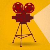 Cinema retro do filme do projetor de filme Imagem de Stock Royalty Free