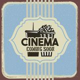 Cinema retro poster pop corn and soda vintage design. Vector illustration Stock Photography