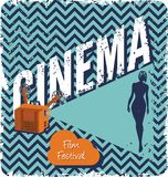 Cinema retro poster Royalty Free Stock Images