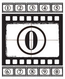 Cinema Ribbon. Over old background vector illustration Royalty Free Stock Photography