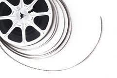 Cinema roll film. On a white background royalty free stock photo