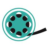 Cinema rolling reel. Isolated vector illustration graphic design vector illustration