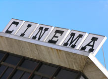 Cinema Roof. Movie house sign Stock Photography