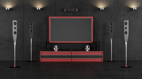 Cinema room Royalty Free Stock Photos