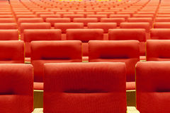Cinema room with red chair Royalty Free Stock Images