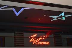 CINEMA SALÃO EM UM COMPLEXO DE COMPRA EM MALÁSIA Imagens de Stock Royalty Free