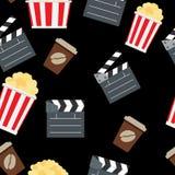 Cinema Seamless Pattern Background Vector. Illustration. EPS10 Stock Photography