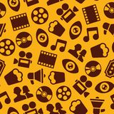 Cinema Seamless Pattern Stock Photos