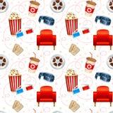 Cinema seamless texture Royalty Free Stock Photo