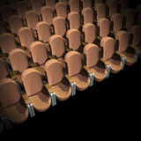 Cinema Seat. Brown Seat at Movie Show (3D image Stock Photo