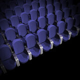 Cinema Seat. Blue Seat at Movie Show (3D image Stock Photos