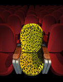 Cinema Seat. Leopard Seat at Movie Show (3D image Royalty Free Stock Image