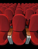 Cinema Seat. Seat at Movie Show (3D image) no shadow royalty free stock photo