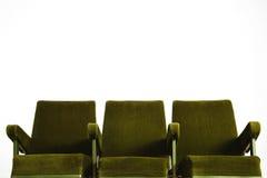 Cinema seat row set Stock Image