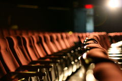 Cinema Seats. Empty rows of streets in a cinema/theater Stock Image