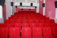 Cinema seats 2. Cinema red seats in cinema hall 2 Stock Image