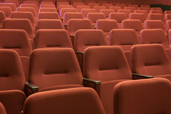 Cinema seats Royalty Free Stock Image