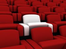 Cinema seats Royalty Free Stock Photo