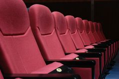 Cinema seats Royalty Free Stock Photos