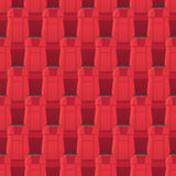 Cinema Seats Seamless Pattern. Endless Texture Stock Photography