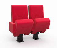 Cinema seats. Cinema seat render ( and clipping path Stock Image
