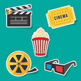 Cinema set. Vector set of cimena icons Royalty Free Stock Images