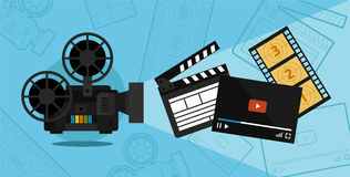 Cinema shooting and video Royalty Free Stock Image