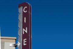 Cinema Sign 1 Royalty Free Stock Photo