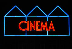 Cinema Sign Royalty Free Stock Photography