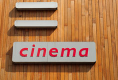 Cinema sign Royalty Free Stock Images