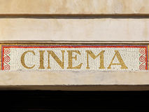 Cinema sign Stock Photography