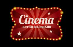 Cinema sign or billboard Royalty Free Stock Photo