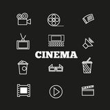Cinema sign and symbol vector set Stock Images