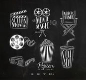 Cinema signs chalk Stock Photo