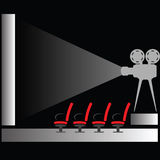 Cinema silhouette Royalty Free Stock Photography
