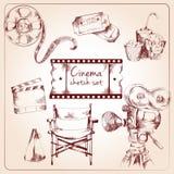 Cinema sketch set vector illustration
