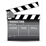 Cinema slate board. On a white background Royalty Free Stock Image