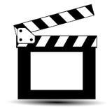 Cinema slate board. On white background Royalty Free Stock Images